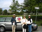 Mr. Anthony Ho, Miss Chan (MCS) & Miss Moinca Tang at the Terry Fox Run