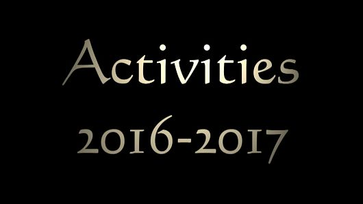 Quick Recap of Our Activities 2016-2017