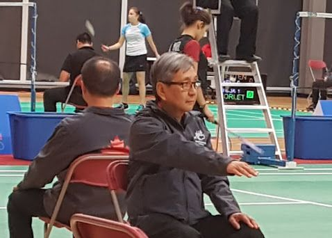 Wilfred Wei ('69) at Pan Am Junior Badminton as Line Judge