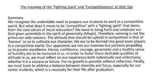 Fighting Spirit and Competitiveness