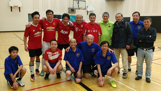 Friendly Indoor Soccer Match with CU Alumni