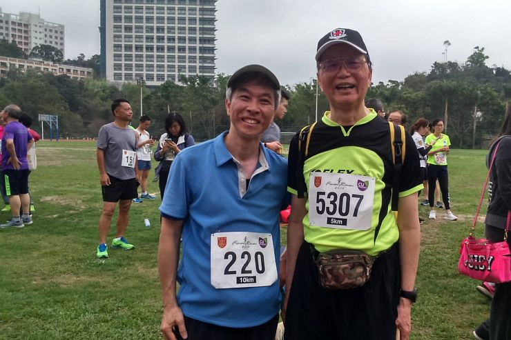Mr. Leung at Fun Run 2019